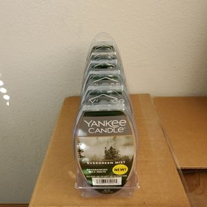 Lot of 6 Yankee Candle Evergreen Mist Wax Melts